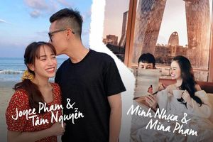 Style ảnh du lịch của nhà Minh Nhựa đối nhau 'chan chát': Con gái và con rể giản dị bao nhiêu thì bố và vợ hai lại 'màu mè' bấy nhiêu