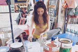 Mặc bikini bán trà sữa, gái xinh khiến dân tình xôn xao một phen