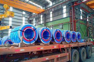 Tôn Pomina xuất khẩu lô hàng đầu tiên sau 2 tháng sản xuất