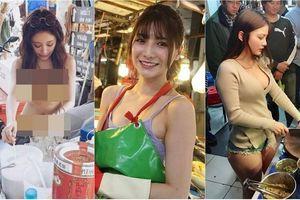 Dàn gái xinh ăn mặc hở bạo khiến khu chợ náo loạn gây bão MXH