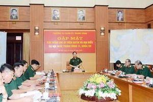 Gặp mặt các đồng chí Ủy viên QUTƯ và đại biểu quân đội dự Hội nghị lần thứ 11 BCH Trung ương khóa XII