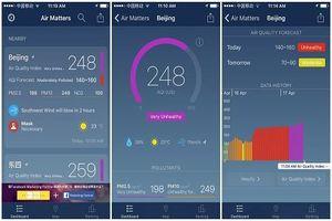 Những ứng dụng đo chất lượng không khí được người dùng ưa chuộng