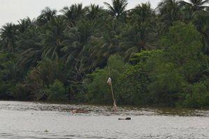 Tiền Giang: Sà Lan chở 1.300 tấn than chìm trên kênh Chợ Gạo lúc rạng sáng