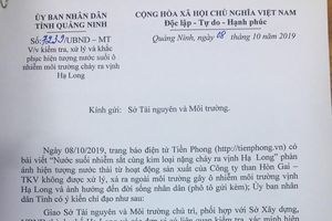 Khắc phục sự cố nước suối ô nhiễm chảy ra vịnh Hạ Long