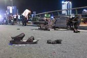 Va chạm xe máy, nam thanh niên tử vong trên cầu Rồng