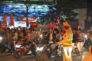 Công an Hà Nội huy động 100% lực lượng chống đua xe, đốt pháo trong trận Việt Nam - Malaysia