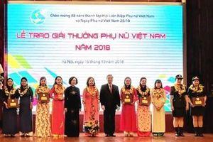 16 tập thể, cá nhân nhận giải thưởng Phụ nữ Việt Nam 2019