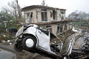 Cận cảnh siêu bão quái vật Hagibis tàn phá tanh bành Nhật Bản