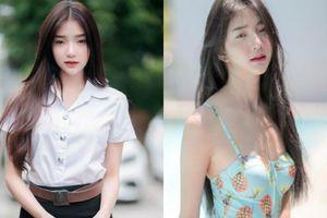 Hot girl đồng phục Thái Lan chuyển hướng sang phong cách gợi cảm