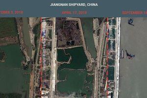 'Choáng ngợp' quy mô chế tạo tàu sân bay Trung Quốc