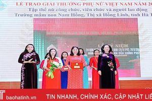 Giải thưởng Phụ nữ Việt Nam tạo động lực mới cho trường mầm non ở thị xã phía Bắc Hà Tĩnh