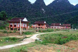 Khu định cư mới của bà con Đan Lai