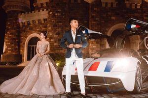 Vợ chồng Minh Nhựa sánh vai bên thần gió Pagani Huayra