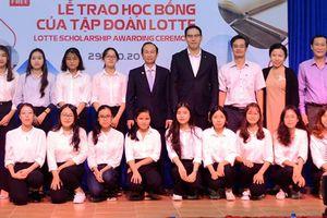 Đà Nẵng-15 sinh viên được nhận học bổng Lotte Foundation