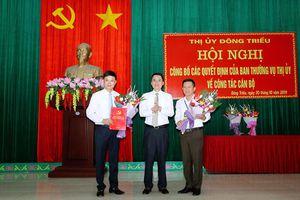 Đông Triều, Tiên Yên trao quyết định bổ nhiệm, điều động cán bộ
