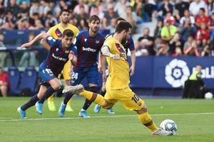 Levante 3-1 Barca: Thua sốc, Barca nguy cơ mất ngôi đầu