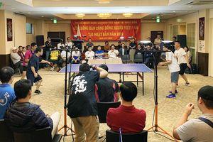 Sôi động Giải bóng bàn đầu tiên của cộng đồng người Việt tại Nhật Bản