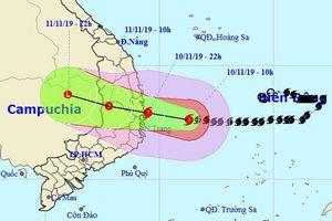 Đêm nay, bão số 6 đổ bộ vào bờ biển các tỉnh từ Bình Định đến Khánh Hòa