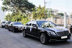 Chi tiết bộ đôi xe siêu sang trong đám cưới Bảo Thy