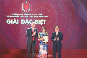 Trao Giải Báo chí toàn quốc 'Vì sự nghiệp giáo dục Việt Nam' 2019