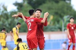 Hà Đức Chinh ghi 4 bàn, U22 Việt Nam thắng vùi dập U22 Brunei