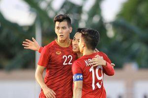 Tiến Linh lập hat-trick, U22 Việt Nam thắng đậm Lào