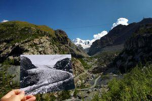 Đỉnh núi không còn băng tại Thụy Sĩ cho thấy sự nóng lên của Trái Đất