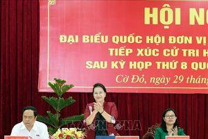Chủ tịch Quốc hội tiếp xúc cử tri tại quận Ninh Kiều và huyện Cờ Đỏ, thành phố Cần Thơ