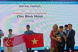 Việt Nam giành nhiều Huy chương Vàng nhất ở Kỳ thi IMSO 2019