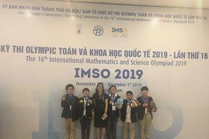 Trường Newton đóng góp nhiều huy chương nhất tại kì thi IMSO 2019