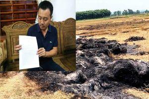 Thu tiền bảo kê không được, côn đồ bật lửa đốt rụi gần 200 cuộn rơm