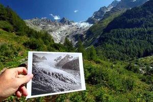 Sông băng ở Thụy Sĩ tan chảy cảnh báo tình trạng nóng lên toàn cầu