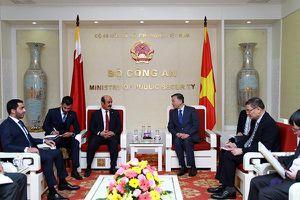Bộ trưởng Tô Lâm tiếp Đại sứ Qatar và Đại sứ Mozambique