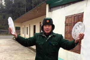 Xuất hiện băng giá ở vùng cao Nghệ An