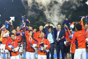 Khoảnh khắc ăn mừng chiến thắng của đội tuyển U22 Việt Nam khi giành huy chương vàng SEA Games lịch sử