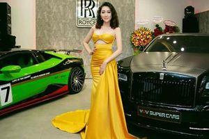 Hoa hậu Huỳnh Thúy Anh tái xuất đúng đẳng cấp nữ hoàng thảm đỏ
