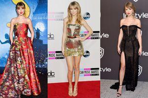 'Rắn chúa' Taylor Swift đẹp rạng ngời với trang phục thảm đỏ đỉnh cao trong suốt nhiều năm liền