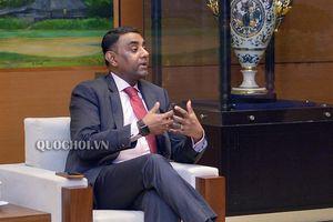 Phó Chủ tịch Quốc hội Phùng Quốc hiển tiếp đoàn đại biểu Cơ quan hợp tác quốc tế Hoa Kỳ