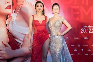 'Chị chị em em' Thanh Hằng, Chi Pu đọ vẻ nóng bỏng với váy xẻ sâu