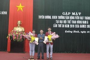Quảng Bình vinh danh vận động viên đạt thành tích xuất sắc tại SEA Games 30