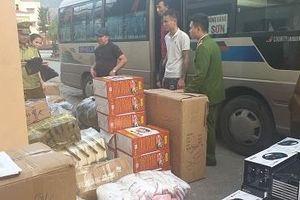 Thu giữ nhiều hàng hóa sản xuất ngoài Việt Nam đang đưa về Thái Nguyên tiêu thụ