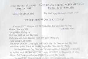 Công an Tây Ninh bác khiếu nại của gia đình bà mót mì chết