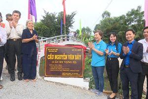 Khánh thành cầu mang tên Anh hùng Nguyễn Văn Bảy