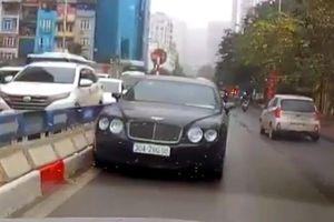 Phạt tài xế lái xe Bentley đi ngược chiều 1 triệu đồng