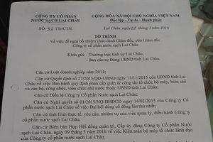 Lai Châu: Trưởng ban tổ chức Tỉnh ủy 'ngồi trên' Luật