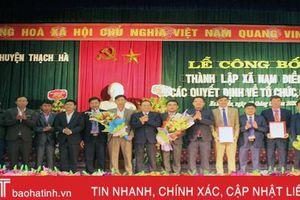 Xã Nam Điền, huyện Thạch Hà chính thức được thành lập
