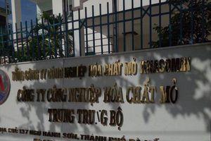 Tái phạm, công ty Công nghiệp Hóa chất mỏ Trung Trung Bộ bị xử phạt kịch khung