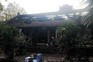 Hỏa hoạn tại Di tích quốc gia chùa Cự Đà: Tượng Phật và đồ thờ hư hại nặng