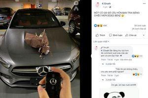 Cô gái cầu hôn bạn trai bằng xe Mercedes Benz có giá trị gần 3 tỷ đồng