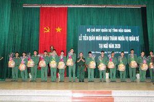 Tiễn quân nhân hoàn thành nghĩa vụ quân sự tại ngũ trở về địa phương